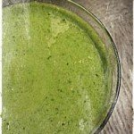 Green smoothie with protein powder - energy kick for the morning!