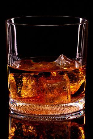 A glass of liquor