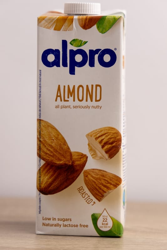 Almond milk carton