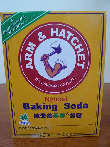 A package of baking soda