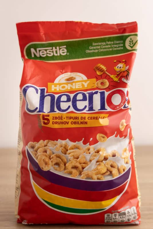 Bag of Cheerios cereal