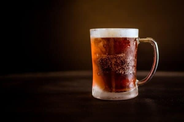 Frosted mug with beer