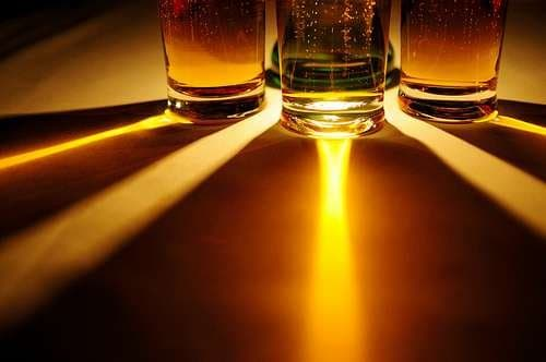 Just three glasses of beer