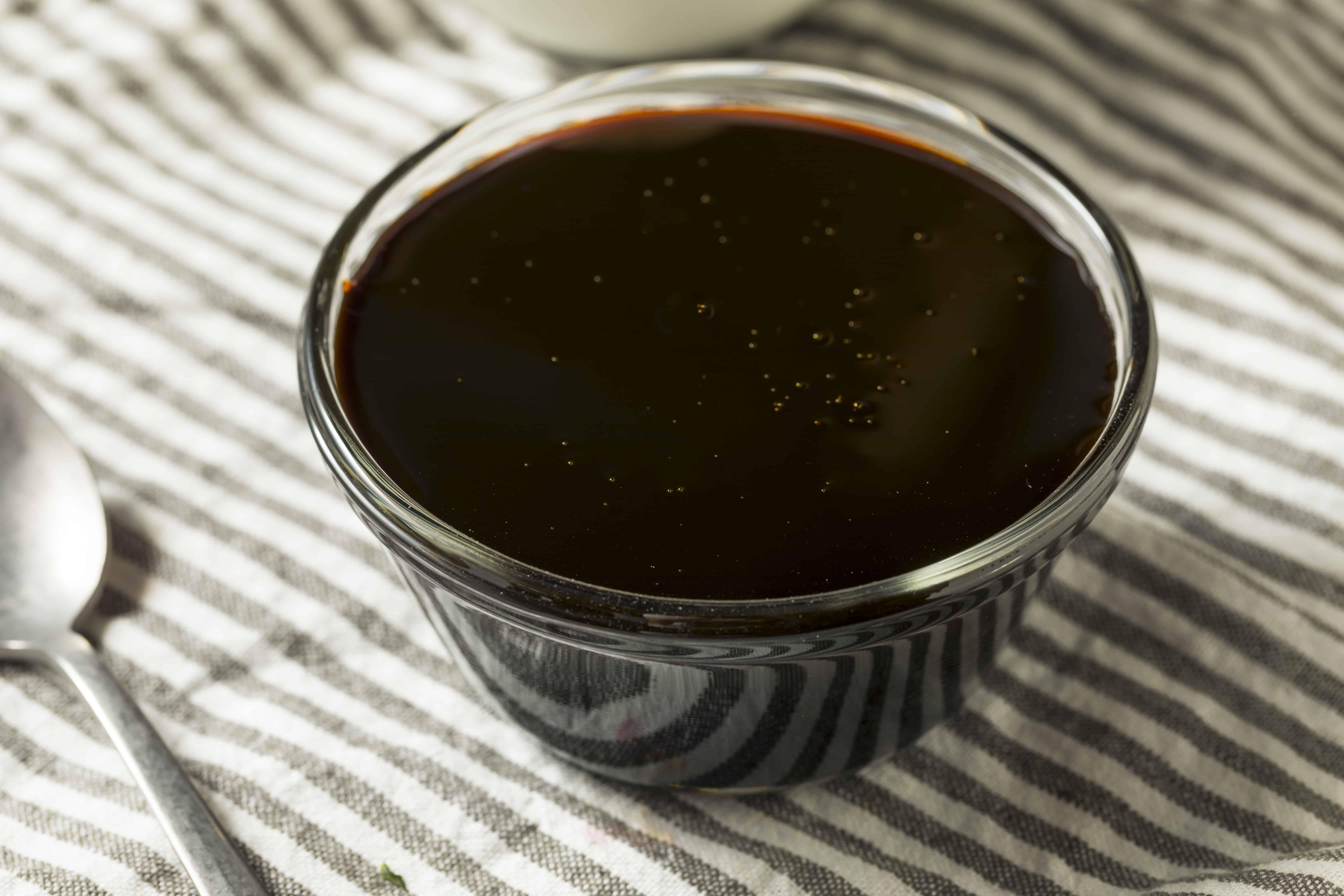 Black Cane Sugar Molasses in a Bowl