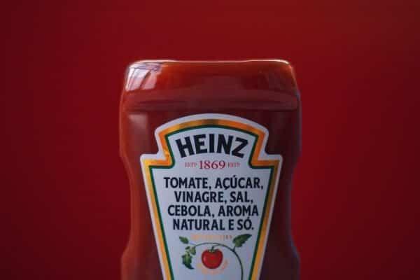 Bottle of Heinz ketchup