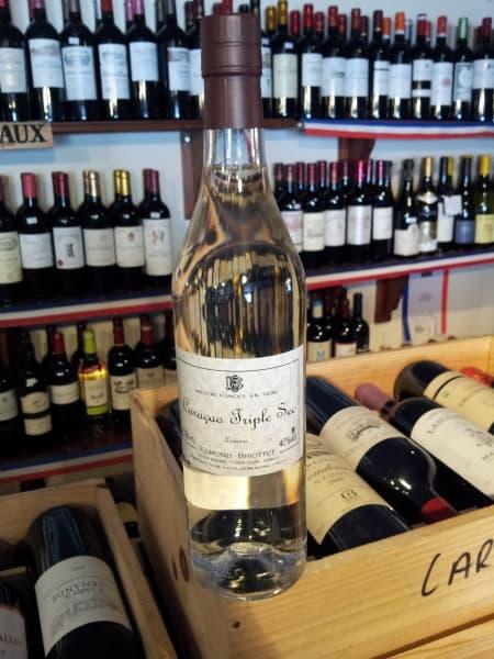 Bottle of Curacao Triple Sec