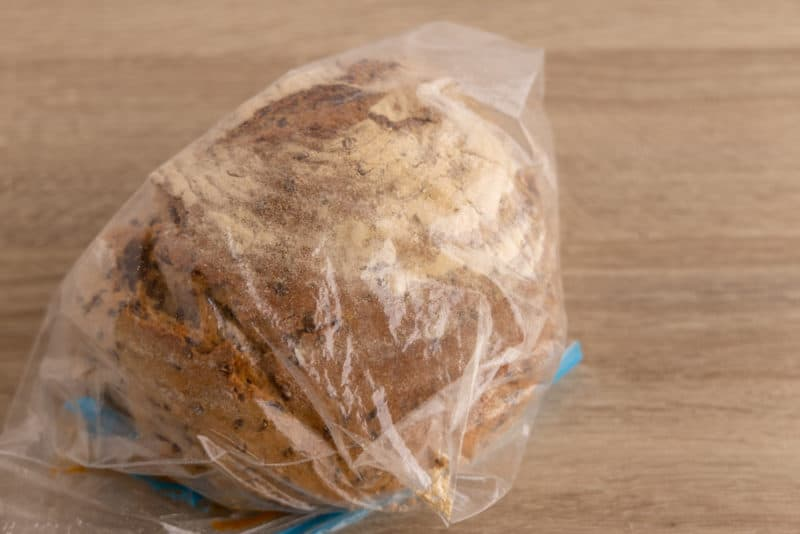 Bread in a freezer bag