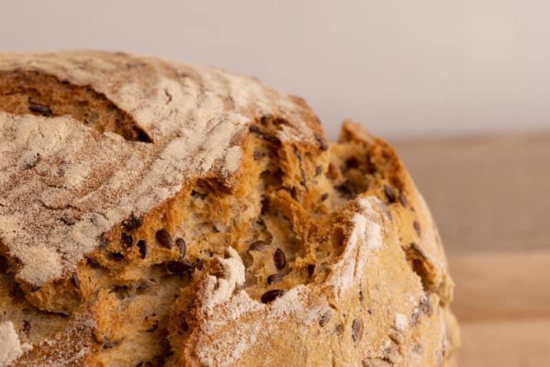 Bread top closeup
