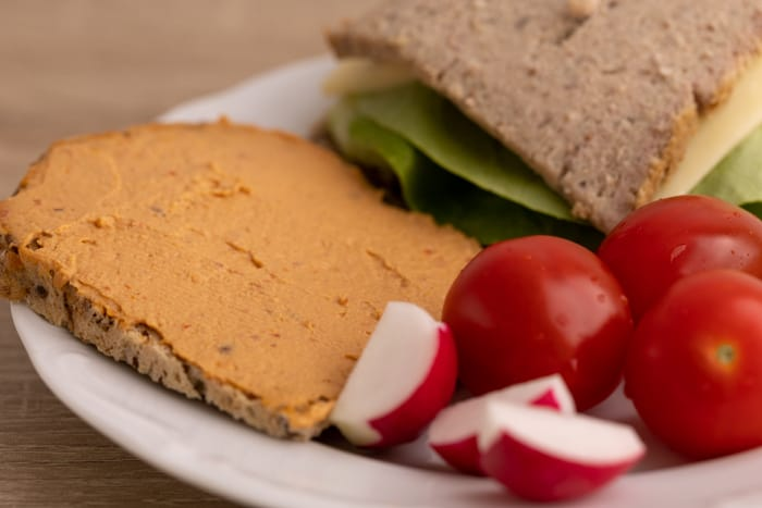 Bread with hummus