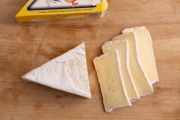 Brie slices