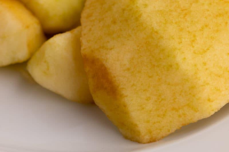 Browned apple
