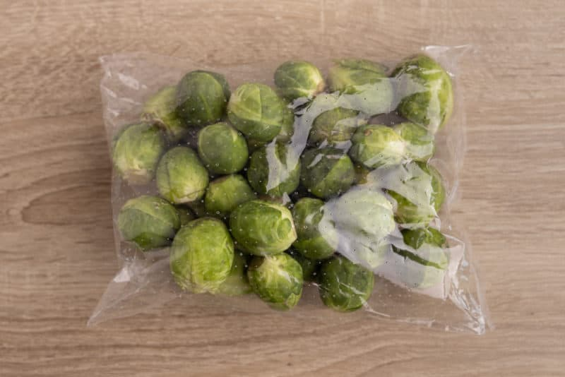 Brussels sprouts straight from the supermarket