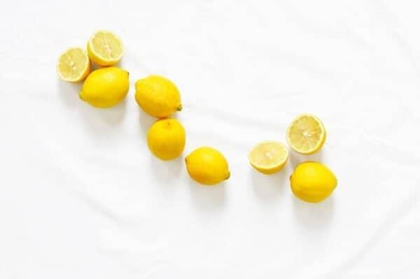 Bunch of sliced lemons