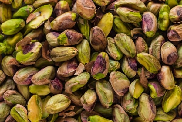 Bunch of shelled pistachios