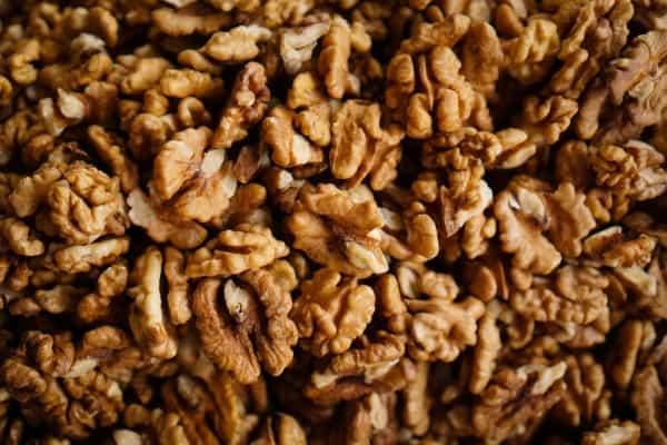 Bunch of shelled walnuts