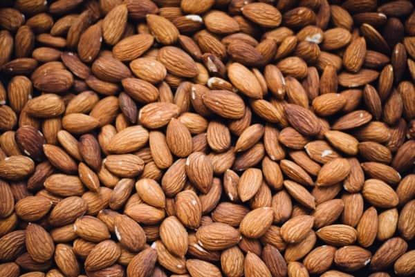 Bunch of unslivered almonds
