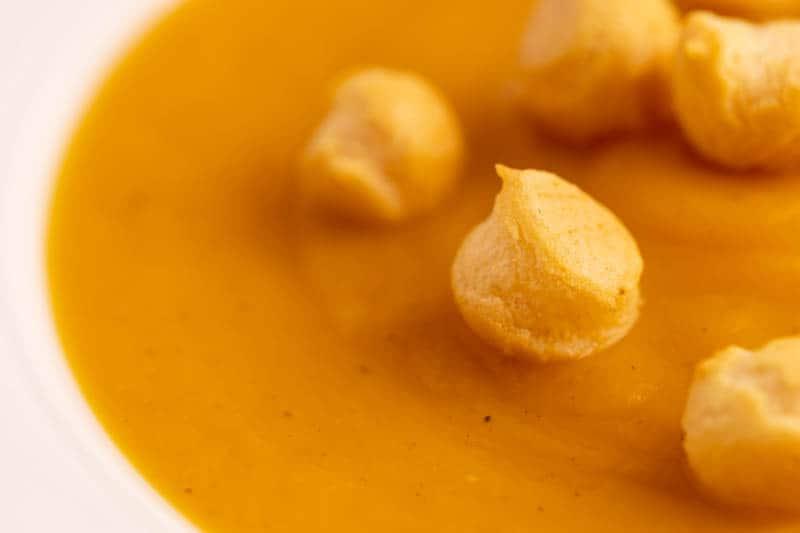 Butternut squash soup closeup
