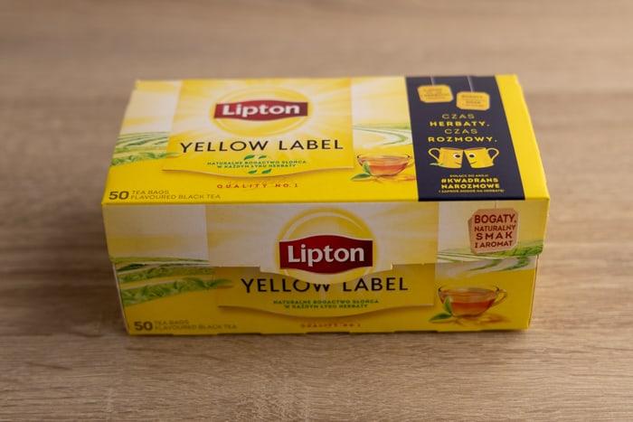 Carton box with tea bags