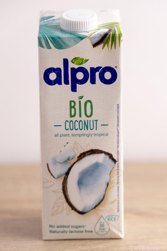 Carton of coconut milk