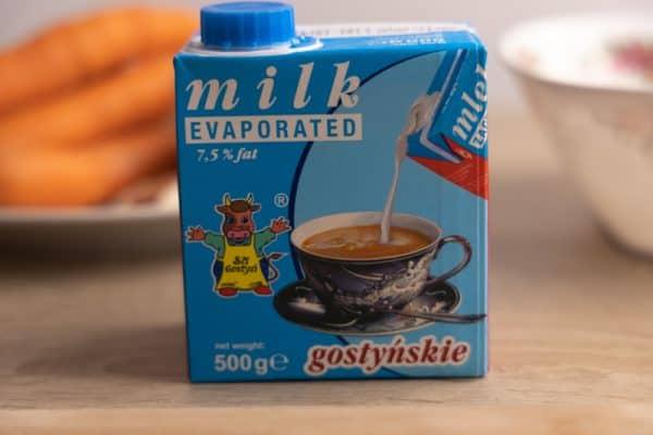 Carton of evaporated milk