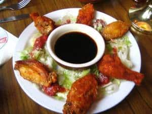 Chicken wings and soy sauce