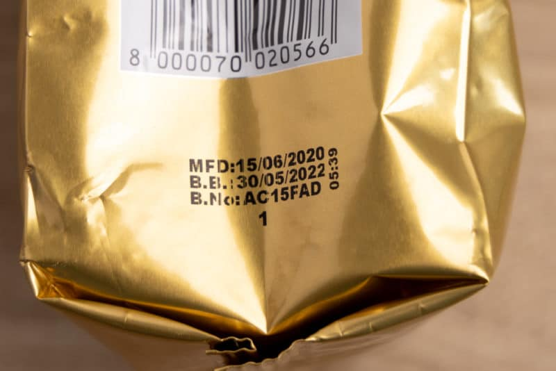 Commercial coffee best by date