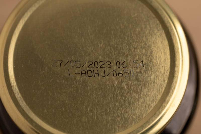 Date on olives jar