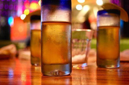 Few  glasses of tequila