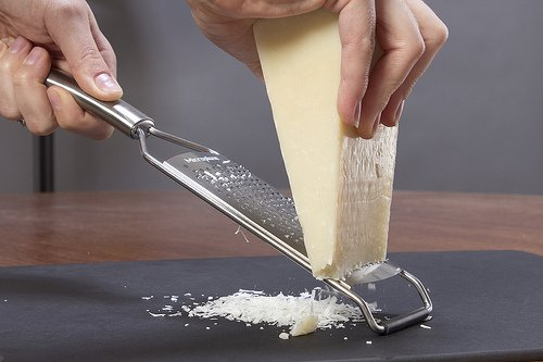 Fine Microplane Grating Hard Cheese