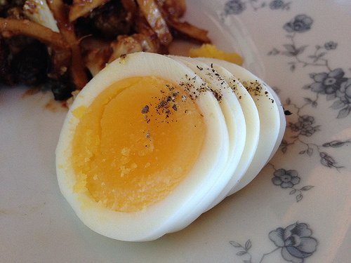 A Sliced Hard Boiled Egg