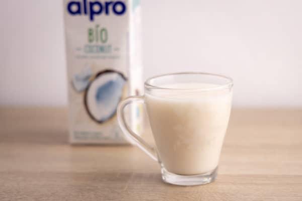 Glass of coconut milk