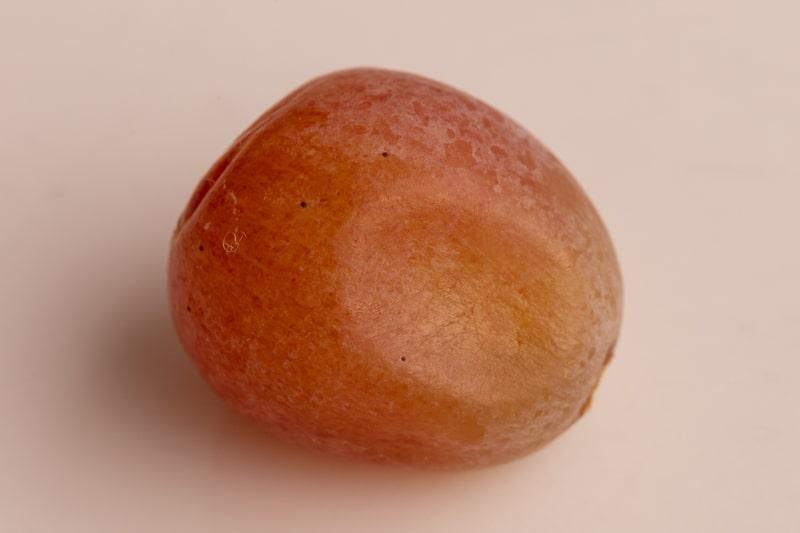 Grape with a sunken spot