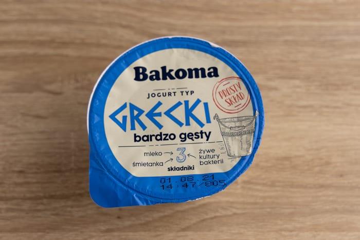 Greek yogurt container