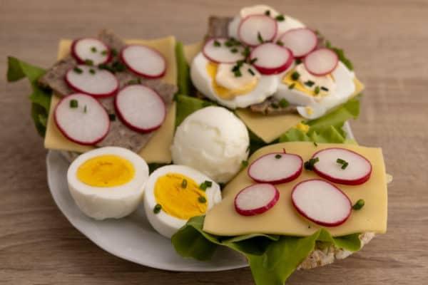 Hard boiled eggs for breakfast