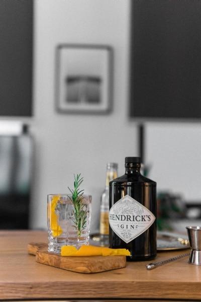 Bottle of Hendrick's gin