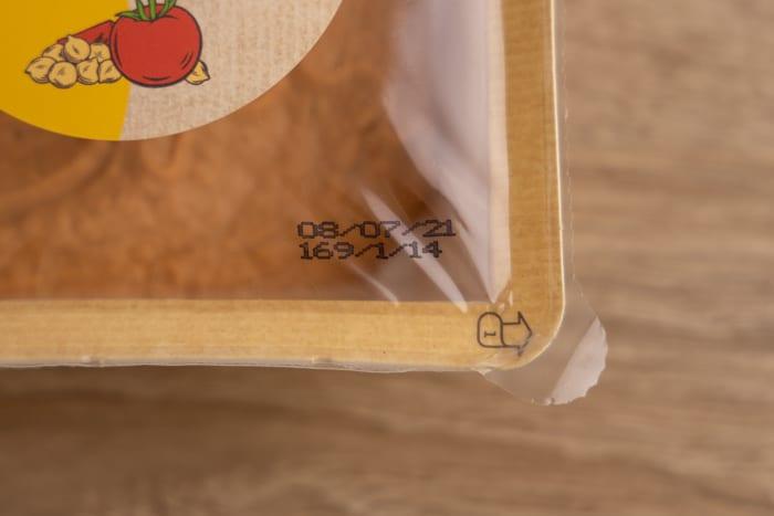 Hummus: date on label