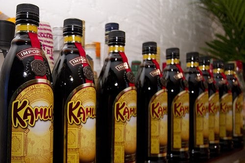 Bottles of Kahlua
