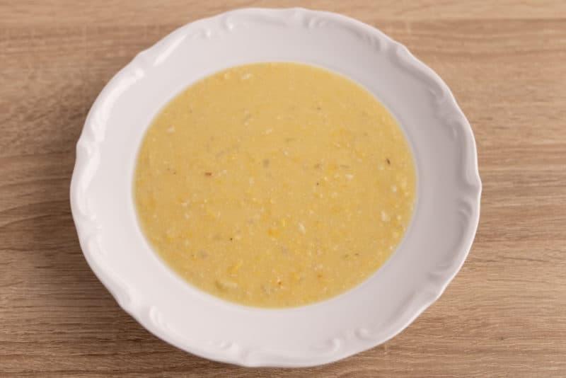 Lentil soup plated