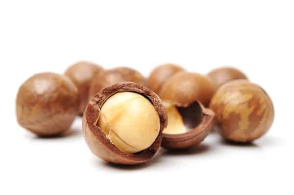 Macadamias with shells on