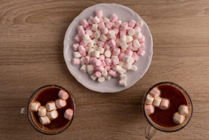 Marshmallows in hot chocolate