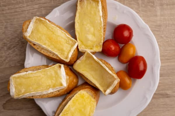 Melted Brie and cherry tomatoes