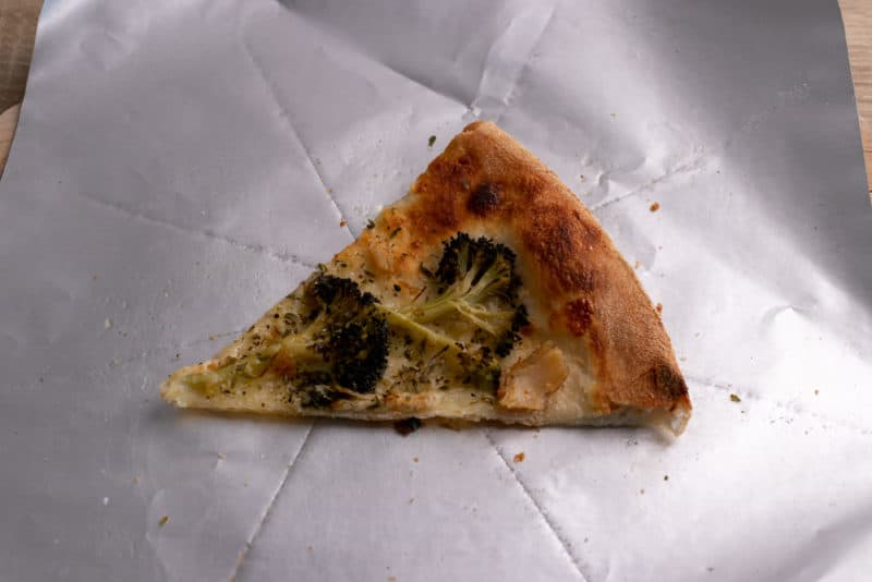 Leftover pizza slice