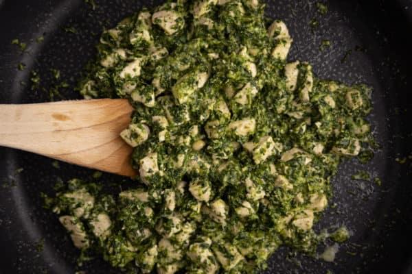 Pesto, spinach, and chicken