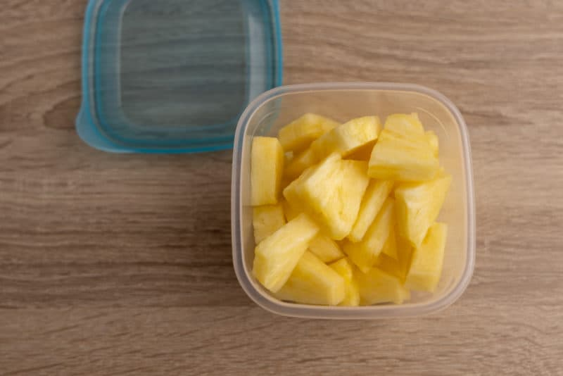 Pineapple in a container
