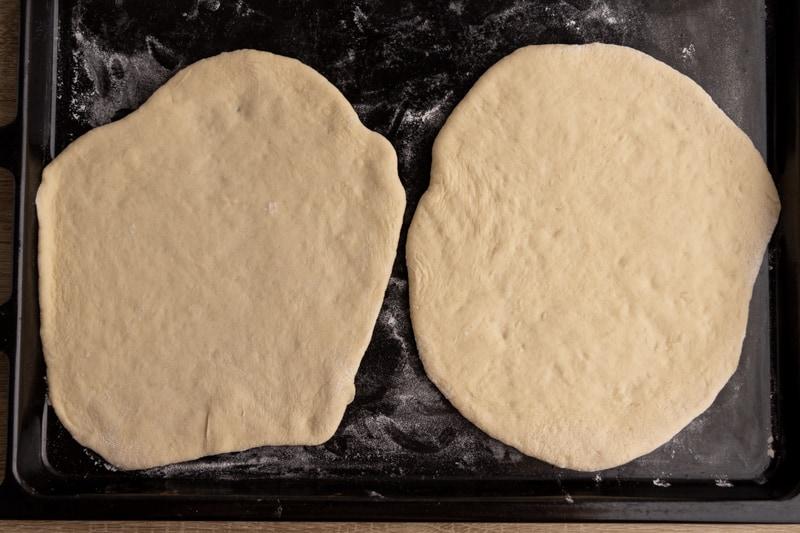 Pita bread before baking
