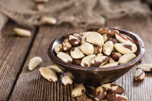Portion of healthy Brazil Nuts