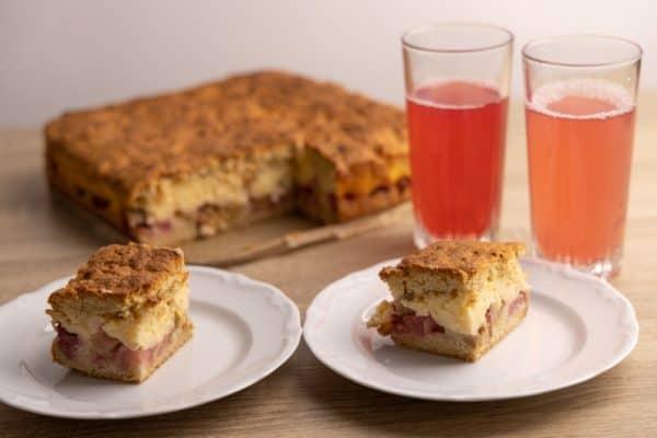 Rhubarb pie and kompot