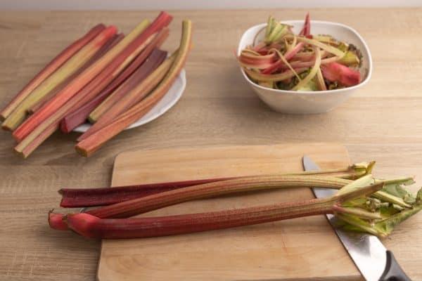 Rhubarb prep