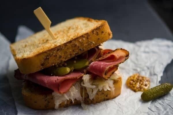 Sandwich with sauerkraut