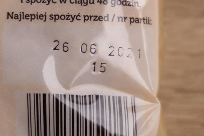 Sauerkraut date on bag